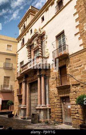 Spain, Cadiz, Barrio Populo, Iglesia de Santa Cruz, Catedral Vieja - Stock Image