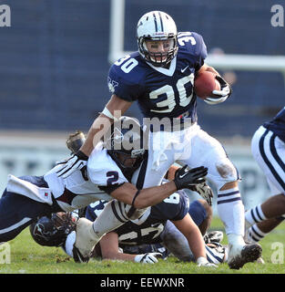 New Haven CT USA-- Driving for more yards Yale Vs Penn game action. 10/20/2012 - Stock Image