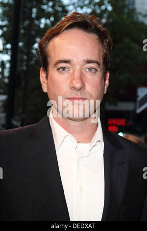 London, UK. 16th Sep, 2013. Matthew MacFadyen at the Press Night for 'Barking In Essex' at the Wyndhams - Stock Image