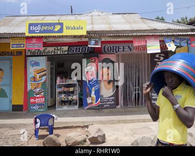 TANZANIA  -  Sean Sprague photo 2018  Mabatini shops, Mwanza. - Stock Image