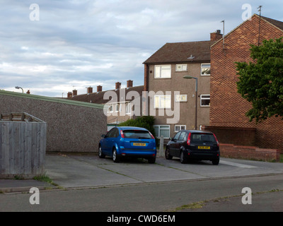 Former council flats and houses in a poor area. Caldecott, Abingdon, Oxfordshire. - Stock Image