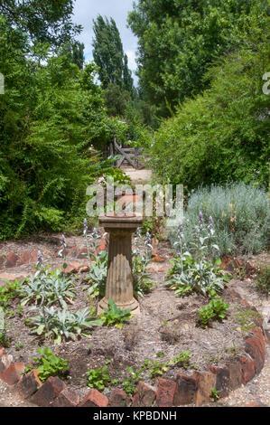 Garden vista in the Lavandula Swiss Italian Farm, near Hepburn Springs, a popular weekend destination in Victoria, - Stock Image
