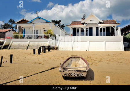 France, South-Western France, Arcachon Bay, protections against flooding - Stock Image