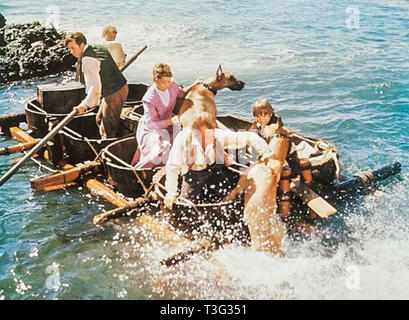 SWISS FAMILY ROBINSON 1960 Walt Disney Productions film with Dorothy McGuire as Mother Robinson and John Mills as the Father - Stock Image