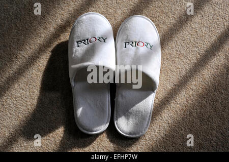 the priory slippers - Stock Image