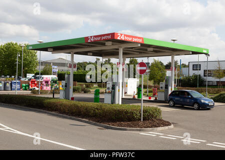 Asda petrol station, Asda, Bury St Edmunds, Suffolk UK - Stock Image