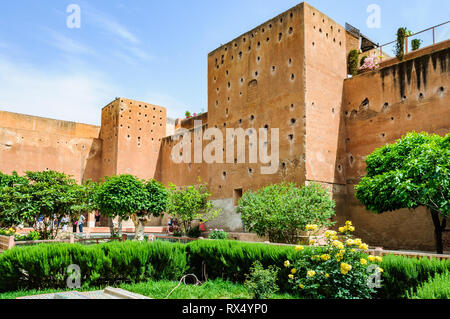 Garden of the Saadian Tombs in the Medina of Marrakech, Morocco - Stock Image