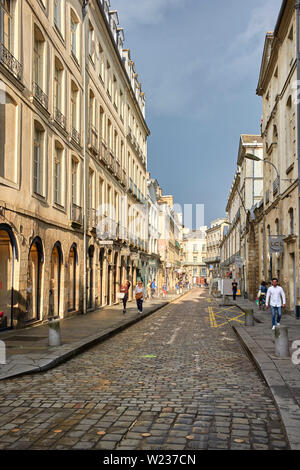 A street in Rennes the capital of Brittany, France - Stock Image