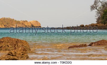 Shore on the coast of costa rica - Stock Image