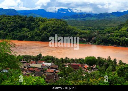 View from Mount Phousi, Luang Prabang, Laos - Stock Image