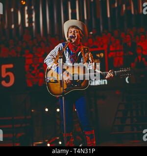 Graham Bonney, britischer Entertainer und Schlagersänger, Deutschland 1977. British schlager singer and entertainer Graham Bonney, Germany 1977. - Stock Image