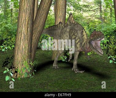 Dinosaurier Concavenator / dinosaur Concavenator - Stock Image