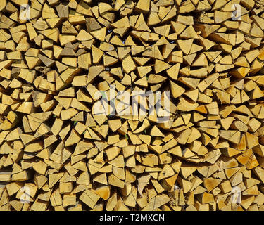 DE - BAVARIA: Wood Stack (Wood for sale) - Stock Image