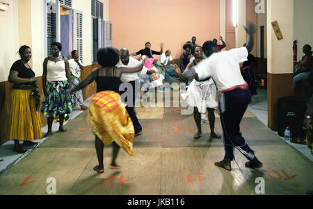 Martinicans Belle dancing in Fort-de-France, the capital of Martinique, Caribbean. - Stock Image