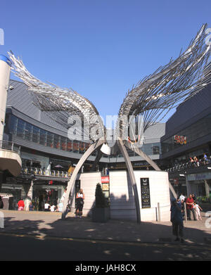 Angel Wings Sculpture Angel Central Shopping Centre Islington London - Stock Image
