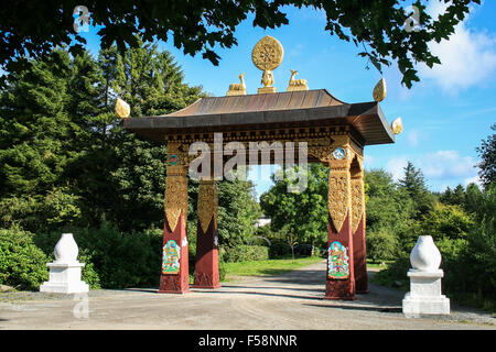 Entrance Gateway, Kagyu Samye Ling Monastery and Tibetan Centre, Eskdalemuir - Stock Image