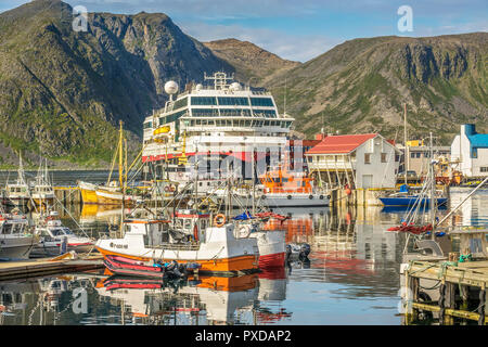 The Harbour At Honningsvag, Norway - Stock Image