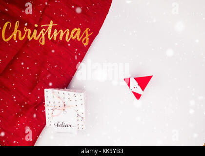 Christmas Decoration with Gifts and Lights golden christmas best for background image for Holiday invitation and - Stock Image