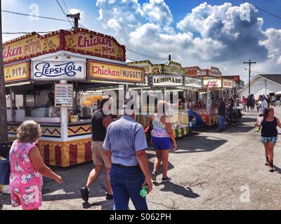 Fair goers at the Lorain county fair in ohio. - Stock Image