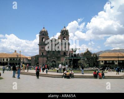 Church of La Compania de Jesus, Cusco, Peru - Stock Image