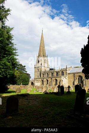 St Mary's Church, Masham, North Yorkshire, England UK - Stock Image