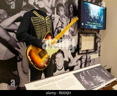The Police costume and guitar in the Musical Instrument Museum, Phoenix, Arizona, USA - Stock Image