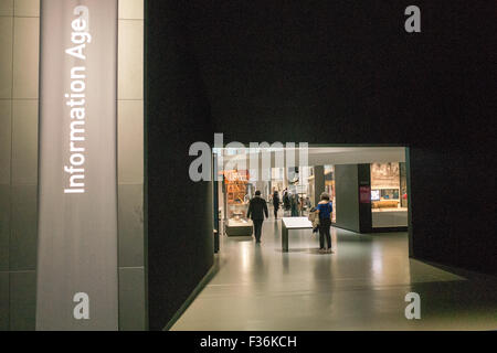 Information Age exhibition inside The Science Museum in London Britain - Stock Image