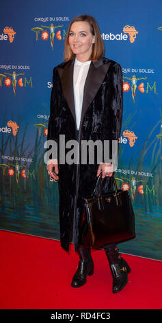 London, United Kingdom. 16 January 2019. Victoria Pendleton arrives for the red carpet premiere of Cirque Du Soleil's 'Totem' held at The Royal Albert Hall. Credit: Peter Manning/Alamy Live News - Stock Image