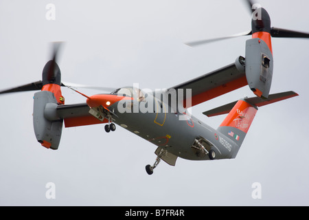 Bell/Agusta BA609 civil twin-engined tiltrotor VTOL aircraft at Farnborough International Airshow 2008, England, - Stock Image