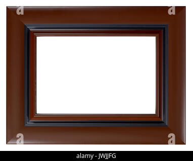 Brown Wood Picture frame - Stock Image
