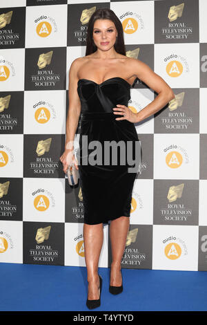 The Royal Television Society Awards (RTS Awards) 2019 held at Grosvenor House Hotel - Arrivals  Featuring: Faye Brookes Where: London, United Kingdom When: 19 Mar 2019 Credit: Lia Toby/WENN.com - Stock Image