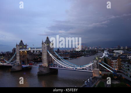 Tower Bridge London  UK - Stock Image