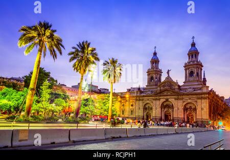 Santiago de Chile, Plaza de Armas, main square of Chile capital city - Stock Image