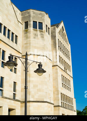 Modern architecture in keeping with the historic City of York offices of Aviva finance company - Stock Image