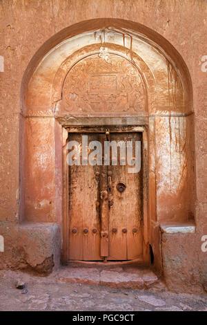 Door in Abyaneh village, Iran - Stock Image