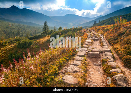 View Of Gasienicowa Valley, High Tatras, Poland - Stock Image