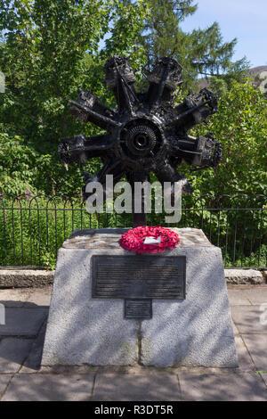 Vikers Wellington R1646 Air Crash Memorial, Braemar, Aberdeenshire, Scotland, UK. - Stock Image