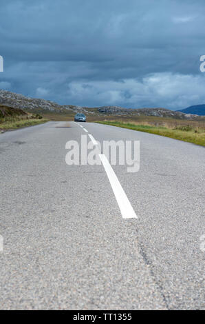 Section of the North Coast 500 scenic route near Gairloch in Wester Ross, Scotland - Stock Image