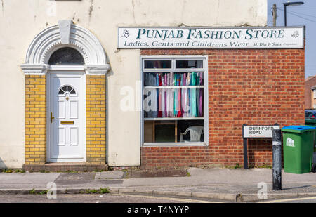Punjab Fashion Store shop window along Durnford Road in Southampton Nicholstown district, Southampton, Hampshire, England, UK - Stock Image