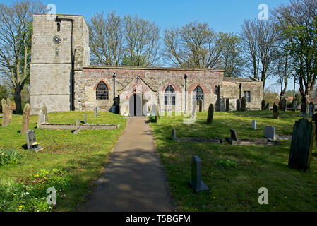 St Cuthbert's Church, Burton Fleming, East Yorkshire, England UK - Stock Image