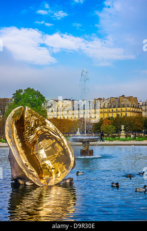 The Tuileries Garden of the Louvre Museum on October 23, 2012 in Paris. - Stock Image