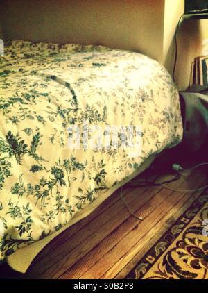 Bed sheet - Stock Image