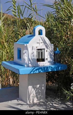 Ikonostassia,  (miniature chapel), Lipsi, Greece - Stock Image