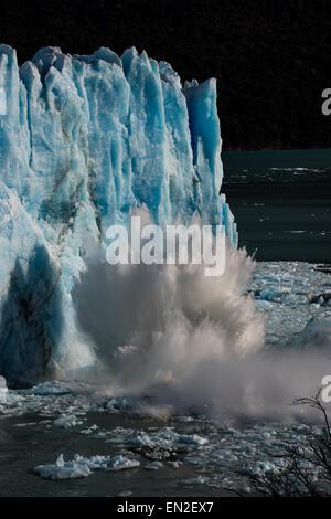 Rupture of Glacier Perito Moreno at Los Glaciares National Park, Santa Cruz, Argentina - Stock Image