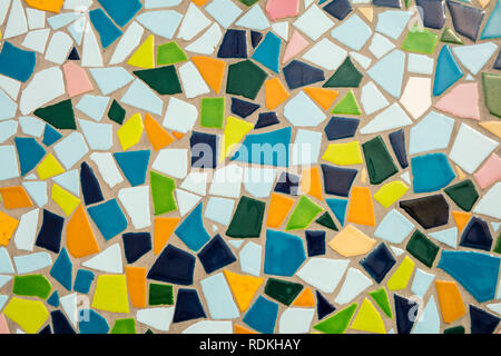 Detail of a multicolored glass mosaic. - Stock Image