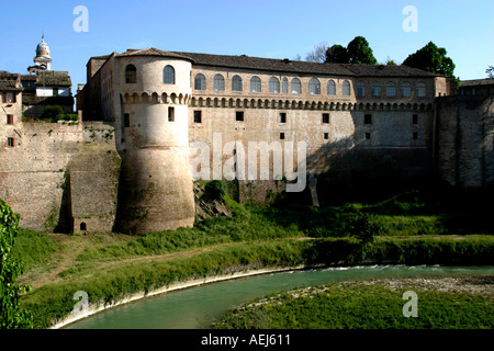 Ducal palace at Urbania in Le Marche Italy - Stock Image