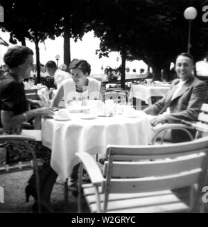 Eva Braun Photo Collection - (album 1) -  Life in Germany ca. 1930s - men and women at outdoor cafe - Stock Image