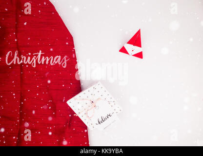 Christmas Decoration with Gifts and Lights silver christmas best for background image for Holiday invitation and - Stock Image