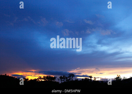 sky view of sunset - Stock Image