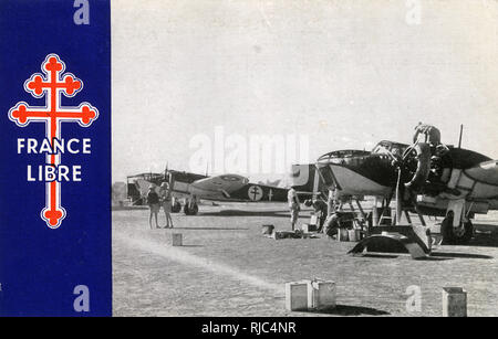WW2 - The Free French Air Force in Africa - Stock Image